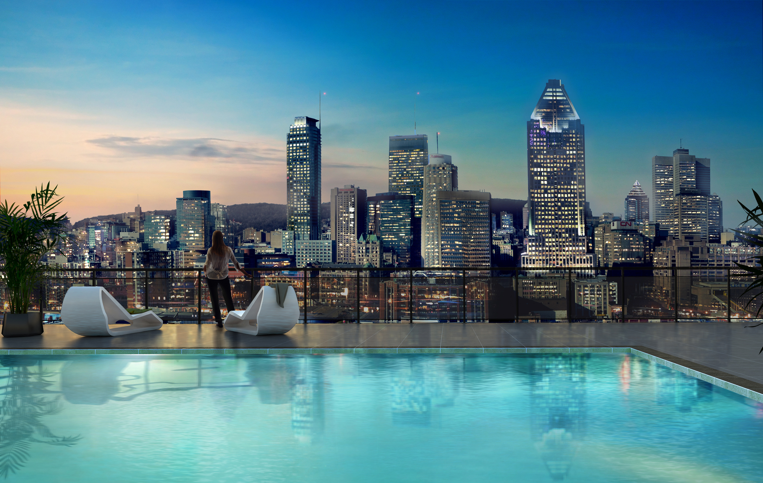 District griffin griffintown condo montreal mcgill real for Club piscine montreal