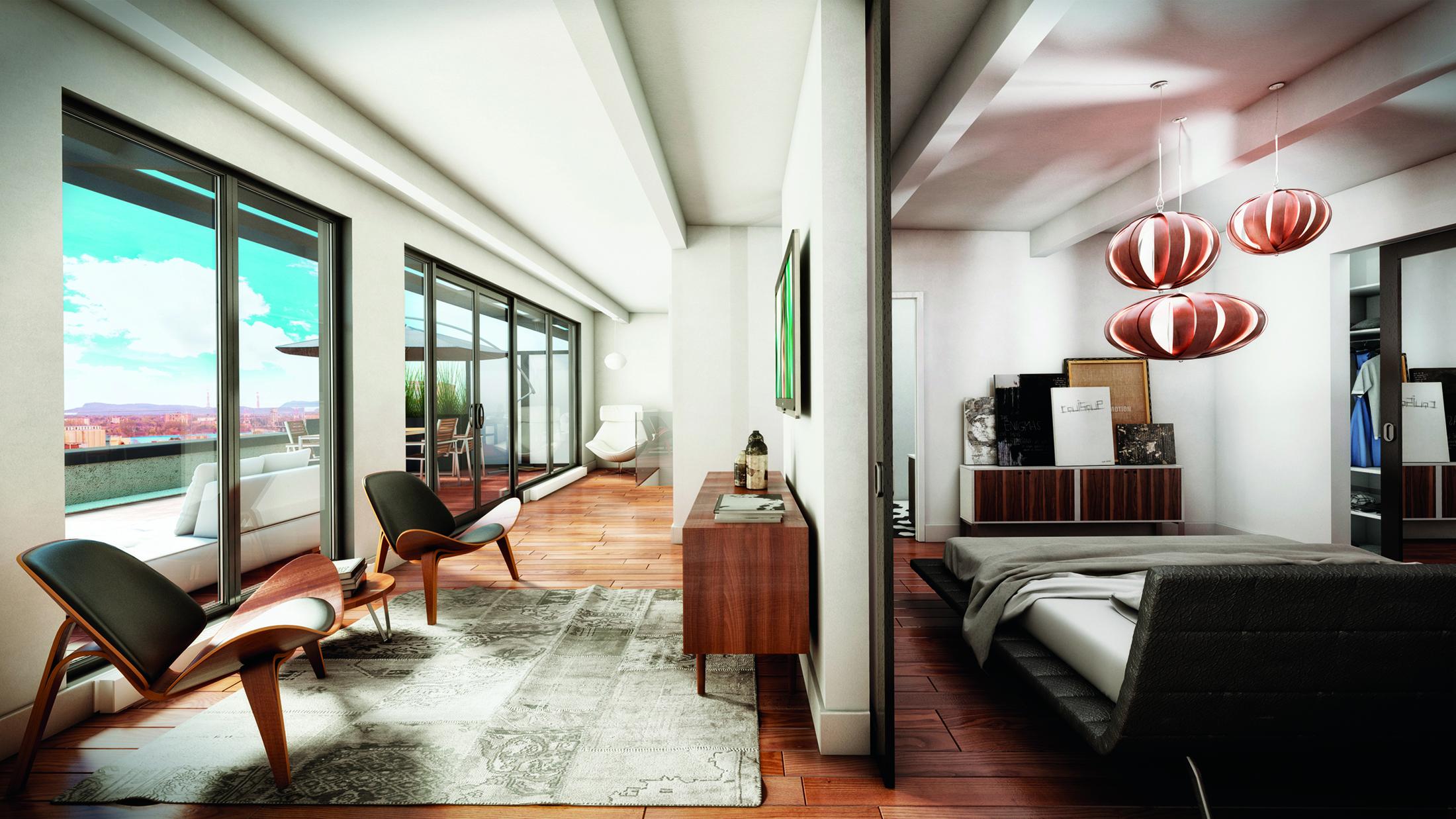 Mcgill Real Estate Exclusive Nordelec Penthouse Montreal Condo