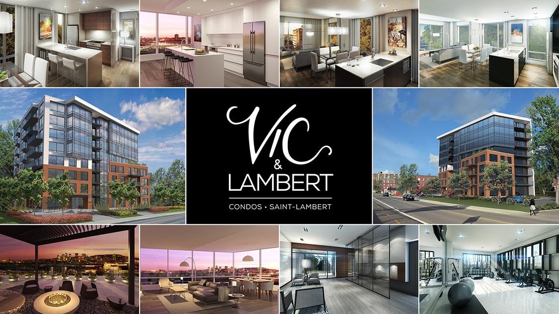 Vic & Lambert projet de condo à Saint-Lambert