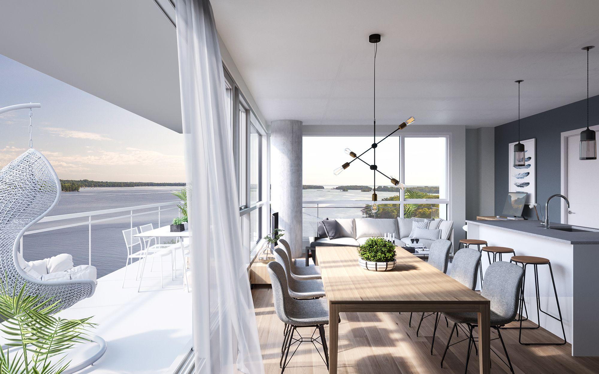 luxeo phase 2 projet de condo balcon salle a diner.jpg