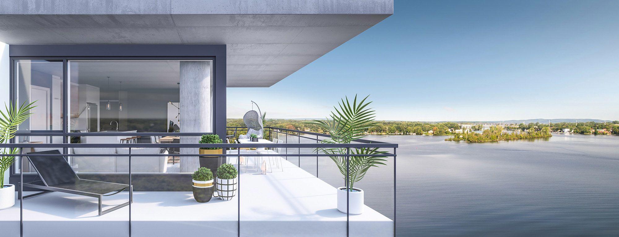 luxeo projet de condo balcon