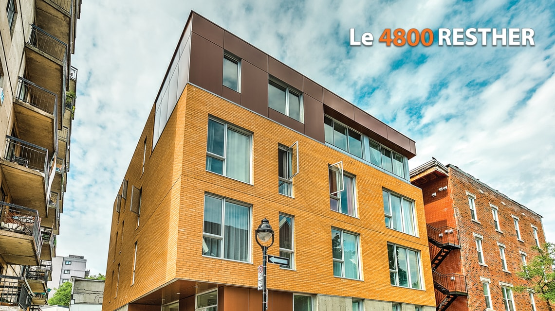 4800 Resther condos neufs Plateau Mont Royal
